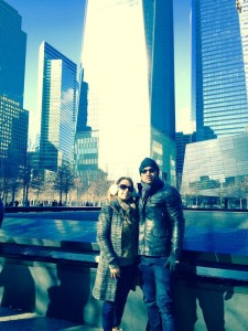 Paid respects at the 9/11 WTC Memorial.