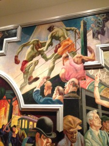 Explored the Met Museum of Art. A colourful murial of the roaring 20's by Thomas Hart Benton.