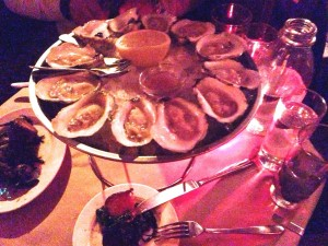 Oysters At The Spotted Pig